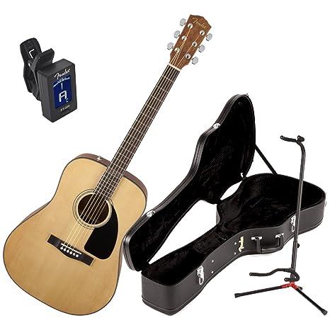 Fender CD60 V2 Natural Guitarra Acústica W/duro caso, Fender ...