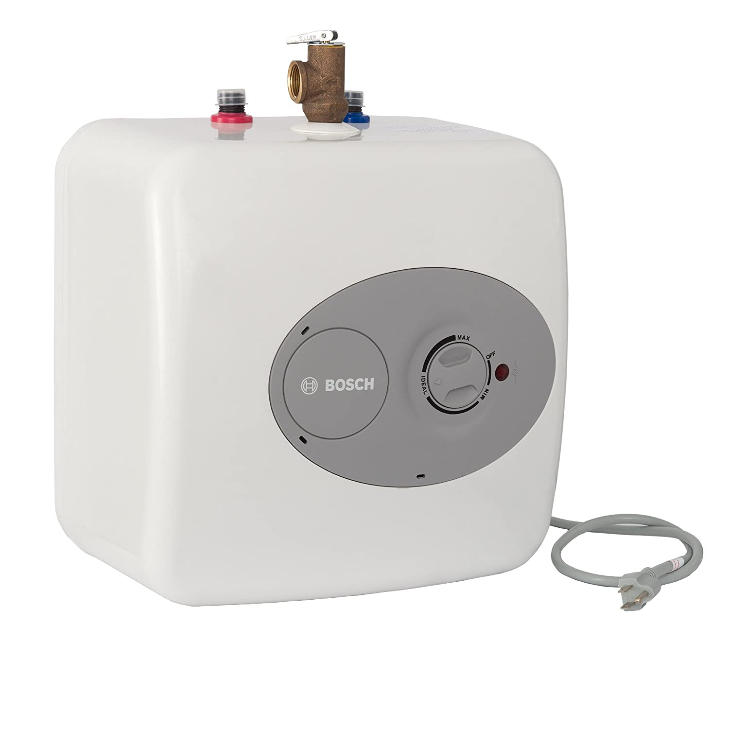 Bosch Electric Mini-Tank Water Heater Tronic 3000 T 2.5-Gallon (ES2.5)- Eliminate Time for Hot Water - Shelf, Wall or Floor Mounted
