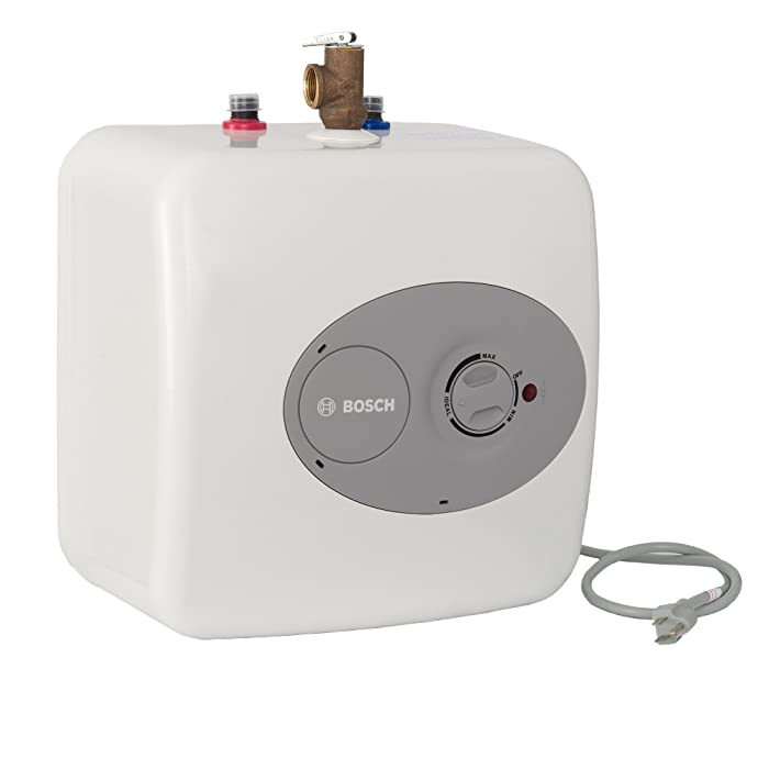 Bosch Electric Mini-Tank Water Heater Tronic 3000 T 4-Gallon (ES4)- Eliminate Time for Hot Water - Shelf, Wall or Floor Mounted