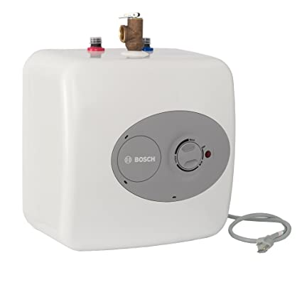 Bosch Electric Mini-Tank Water Heater Tronic 3000 T 2 5-Gallon (ES2 5) -  Eliminate Time for Hot Water - Shelf, Wall or Floor Mounted
