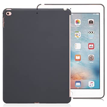 KHOMO Funda Trasera para Apple iPad Air 1 Primera Generación iPad 5, también Compatible iPad 9,7 2017 - Air 1 - Carcasa Trasera Gris Oscura