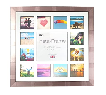 Inov8 Insta Striped Silver 16x16 Inch Picture Frame for 13 Instagram ...