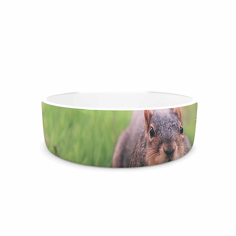 7\ KESS InHouse Angie Turner Squirrel  Brown Animals Pet Bowl, 7