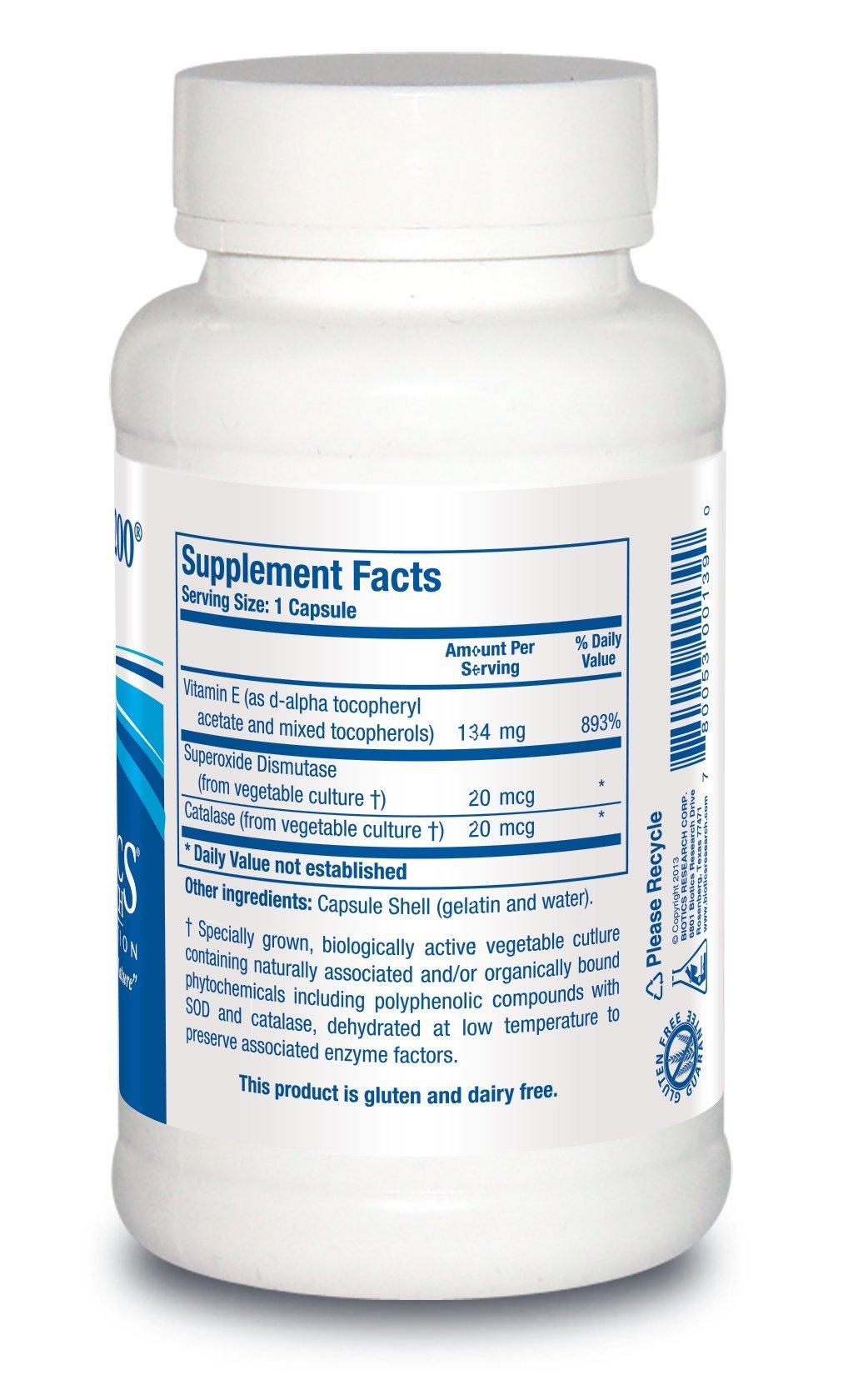 Biotics Research E-Mulsion 200- Emulsified, Enhanced Absorption, Vitamin E, Mixed Tocopherols, Antioxidant, Cardiovascular Health, Immune Support 90 caps