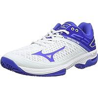 Mizuno Kadın Wave Exceed Tour4 Cc tenis ayakkabısı, beyaz Beyaz Size: