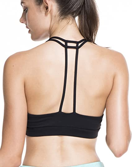 c884f3e62c Amazon.com  OVESPORT Women Sports Bras Workout Strappy Light Support ...