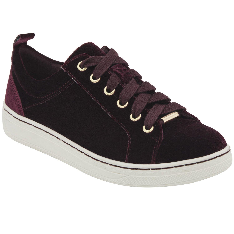 Earth Womens Zag Sneaker B06WWKWVL4 7 B(M) US|Burgundy Velvet