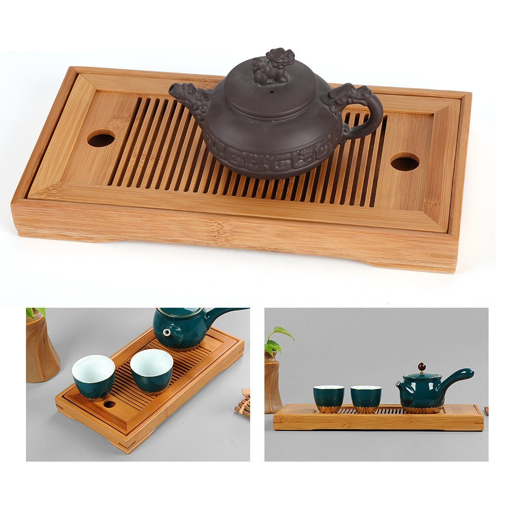 Chinese tea cups Reservoir type Tea tray made of bamboo Rectangle Reservoir type tea cups Tea pots Tea ceremony Chinese tea pots by TAQUA (Image #4)