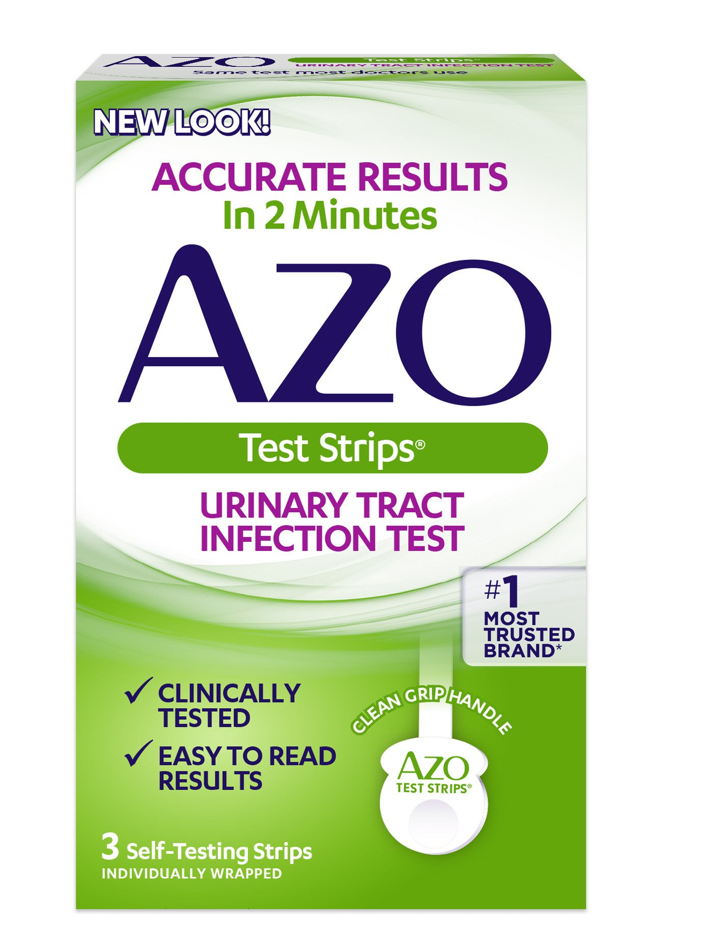 AZO Urinary Tract Infection Test Strips, 3-Count Boxes (Pack of 2)(Packaging may vary) by AZO