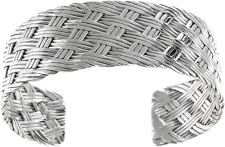 Sterling Silver Weave Cuff Bracelet