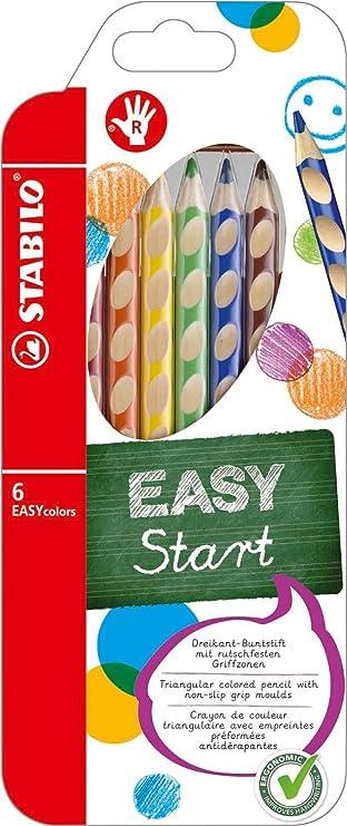 STABILO Dreikant Buntstifte EASYcolors 12er Etui für Rechtshänder