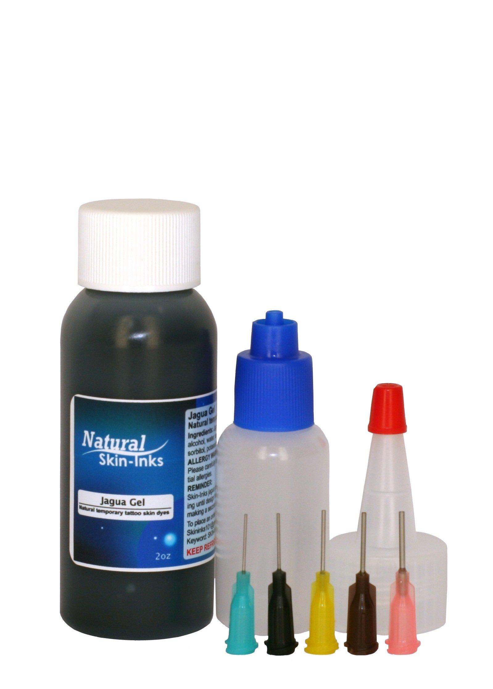 Henna City 2 oz Jagua Gel and Applicator Bottle Plus Free Stencil transfers