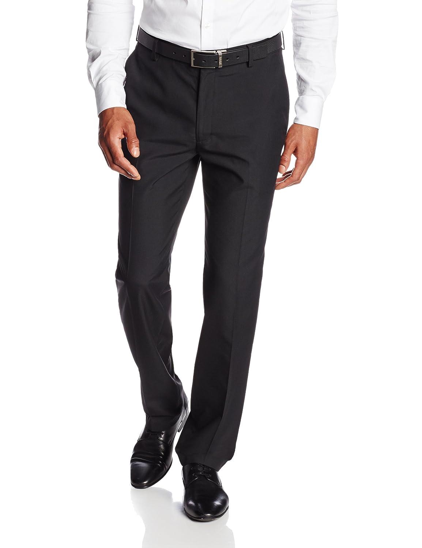 Haggar mens Twill Slim Fit Flat Front Suit Separate Pant Haggar Men' s Tailored HY70142
