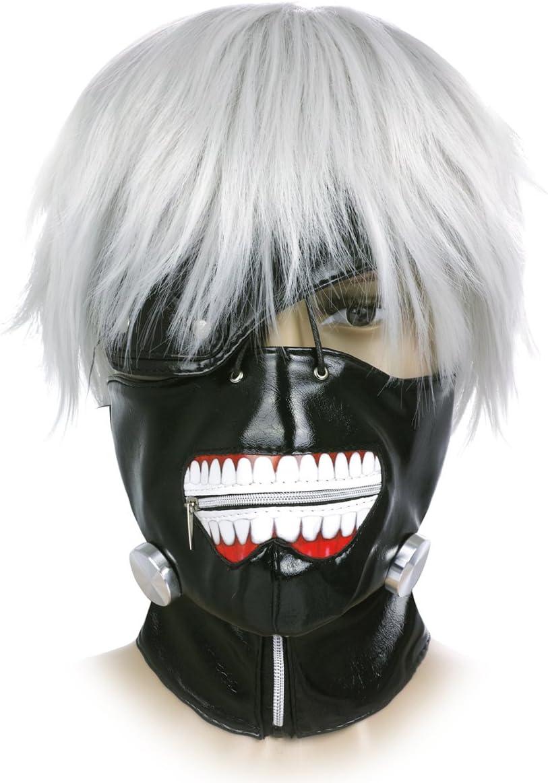 CoolChange Máscara y Peluca Tokyo Ghoul de Ken Kaneki: Amazon.es ...