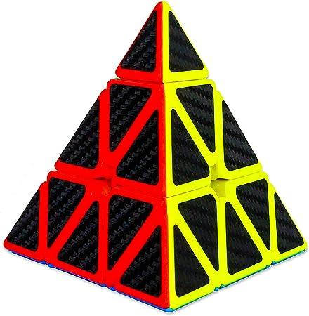 D ETERNAL YJ Pyraminx Rubiks Rubix Pyramid Cube 3x3 High Speed Triangle Puzzle Cube, Multicolor