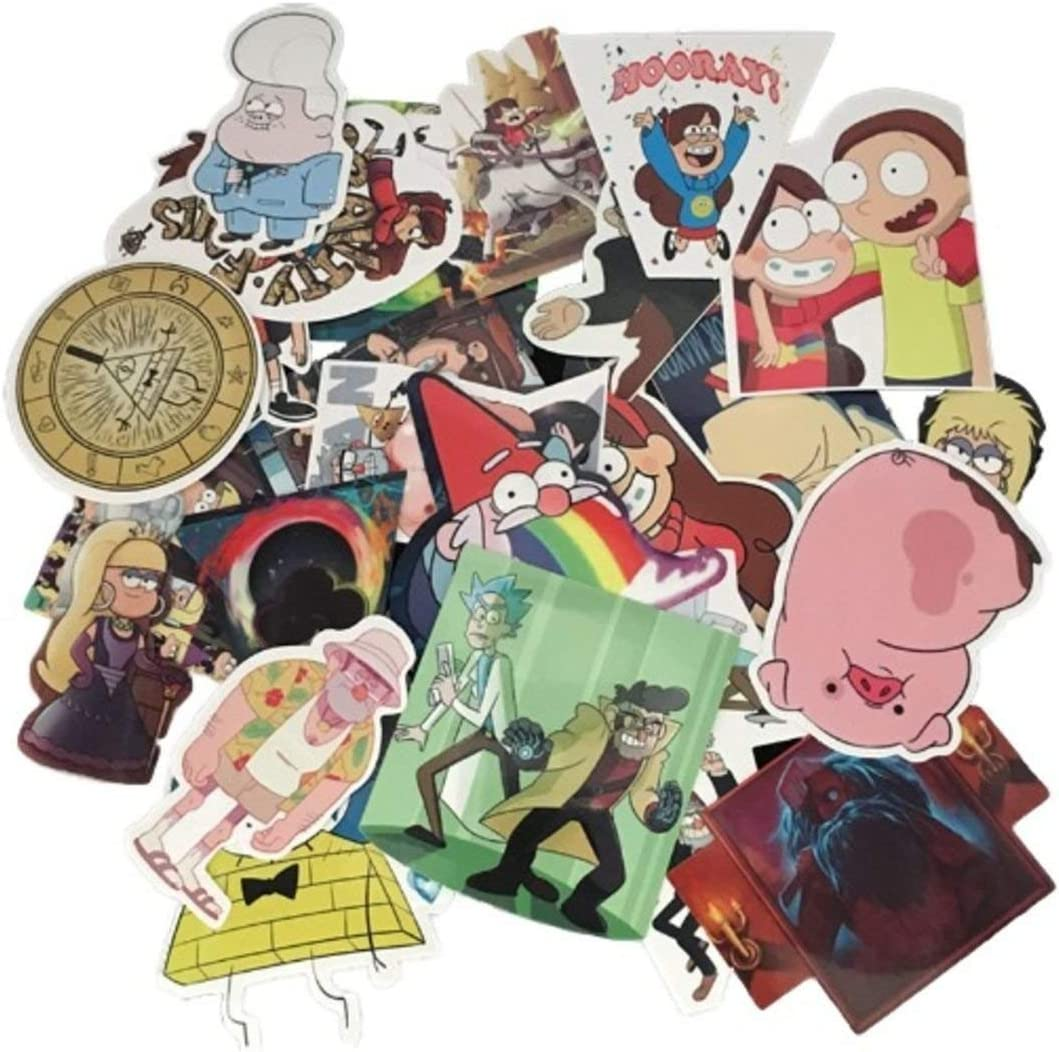 Cartoon Show Themed Gravity Falls 25 Piece Sticker Decal Set for Kids Adults - Laptop Motorcycle Skateboard Decals