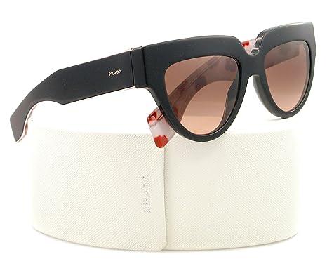 40ce11504a750 Prada 29p Poeme Black Frame Brown Gradient Lens Plastic Sunglasses   Amazon.co.uk  Clothing