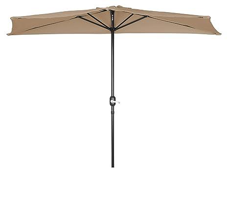 Image Unavailable - Amazon.com : Trademark Innovations Patio Half Umbrella - 8 (Teal