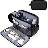 Toiletry Bag for Men, BAGSMART Travel Toiletry Organizer Dopp Kit Water-resistant Shaving Bag for Toiletries Accessories…
