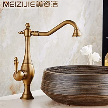 Tradition Kitchen Faucet / Kitchen Sink Basin Mixer Tap Solid Brass Bathroom Tall Body Sink Basin Mixer Tap Hot and Cold Bathroom Sink Vessel