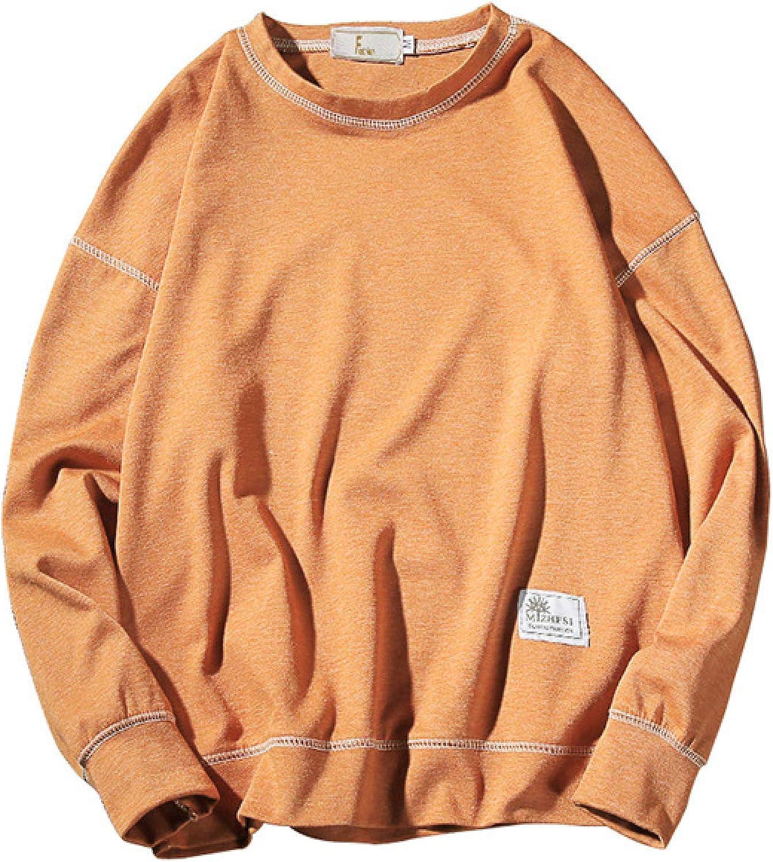 HOSD Hombre Larga de de suéter para Ropa Manga Suéter de sólido Camisetas Color Manga jóvenes para Larga