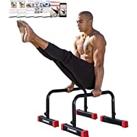 Rubberbanditz Parallettes Push Up & Dip Bars   Heavy Duty, Non-Slip Parallette Stand for Crossfit, Gymnastics…
