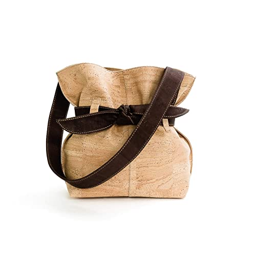 Amazon.com: Vegan Cork - Bolso bandolera para mujer con lazo ...