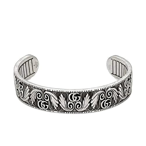 a85dd7f68c23b Amazon.com: Gucci Marmont Bracelet with Double G and Leaf Motif 6.69 ...