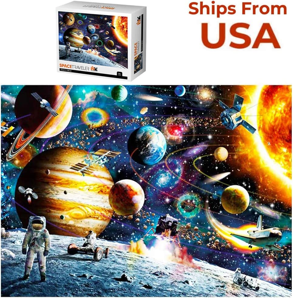 Planets in Space Jigsaw Puzzle Puzzle 1000 Pieces Jigsaw Puzzle for Kids Adults