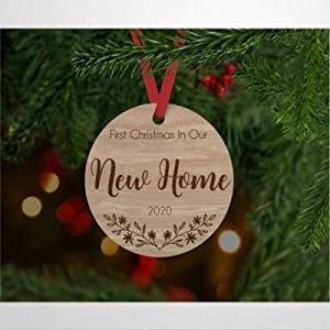 Our First Christmas in Our New Home Personalised Christmas Bauble Custom Bauble Christmas Bauble New Home Bauble Bauble Christmas Ornament 2020 Pandemic Xmas Decor Wedding Ornament Holiday Present