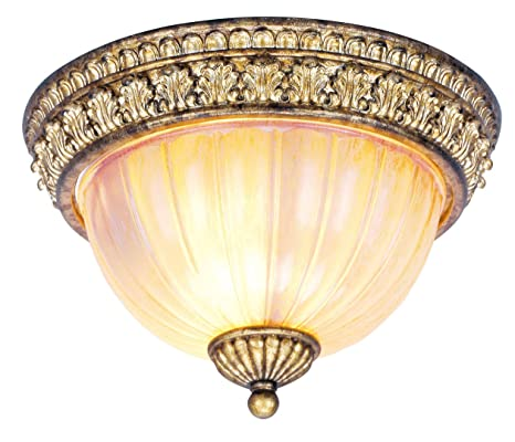 Amazon.com: livex iluminación 8817 – 65 Flush Mount con ...