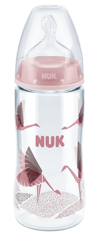 NUK 10215202 First Choice Plus PA-Flasche, 150 ml, mit Silikon-Trinksauger, Größe 0-6 Monate, S, Blau Größe 0-6 Monate