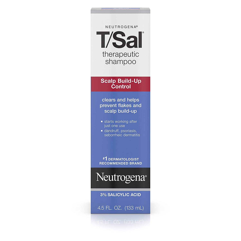 Neutrogena T/SAL Therapeutic Shampoo for Scalp Build-Up Control with Salicylic Acid, Scalp Treatment for Dandruff, Scalp Psoriasis & Seborrheic Dermatitis Relief, 4.5 fl. oz
