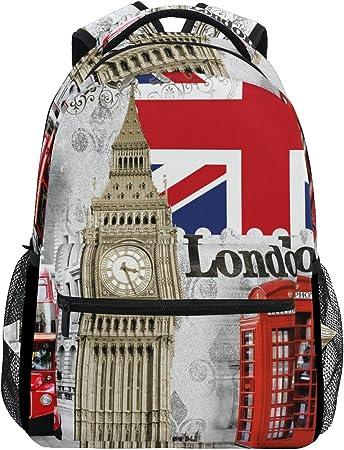 Ruin British Flag Kids Backpack Schoolbag Fashion Girls Boys Outdoor Daypack Students Children Bookbags