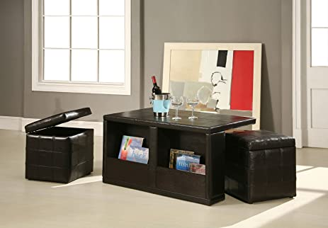 Amazoncom Williams Home Furnishing Coffee Table With Storage - Coffee table with storage seats