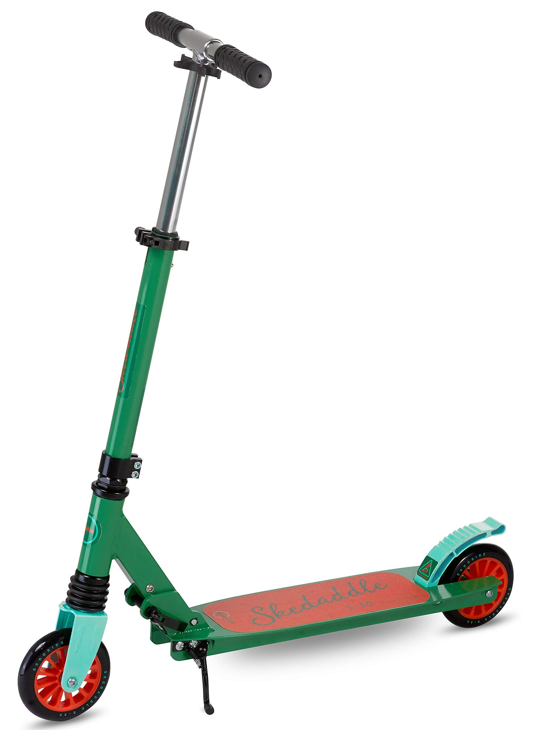 Scooter for Kids | 2 Wheel Scooter for Boys | Two Wheel Scooter for Girls | Outdoor King Kids Scooters | Folding Kids Scooter Easy to Transport | Scooride Skeddadle (Green)