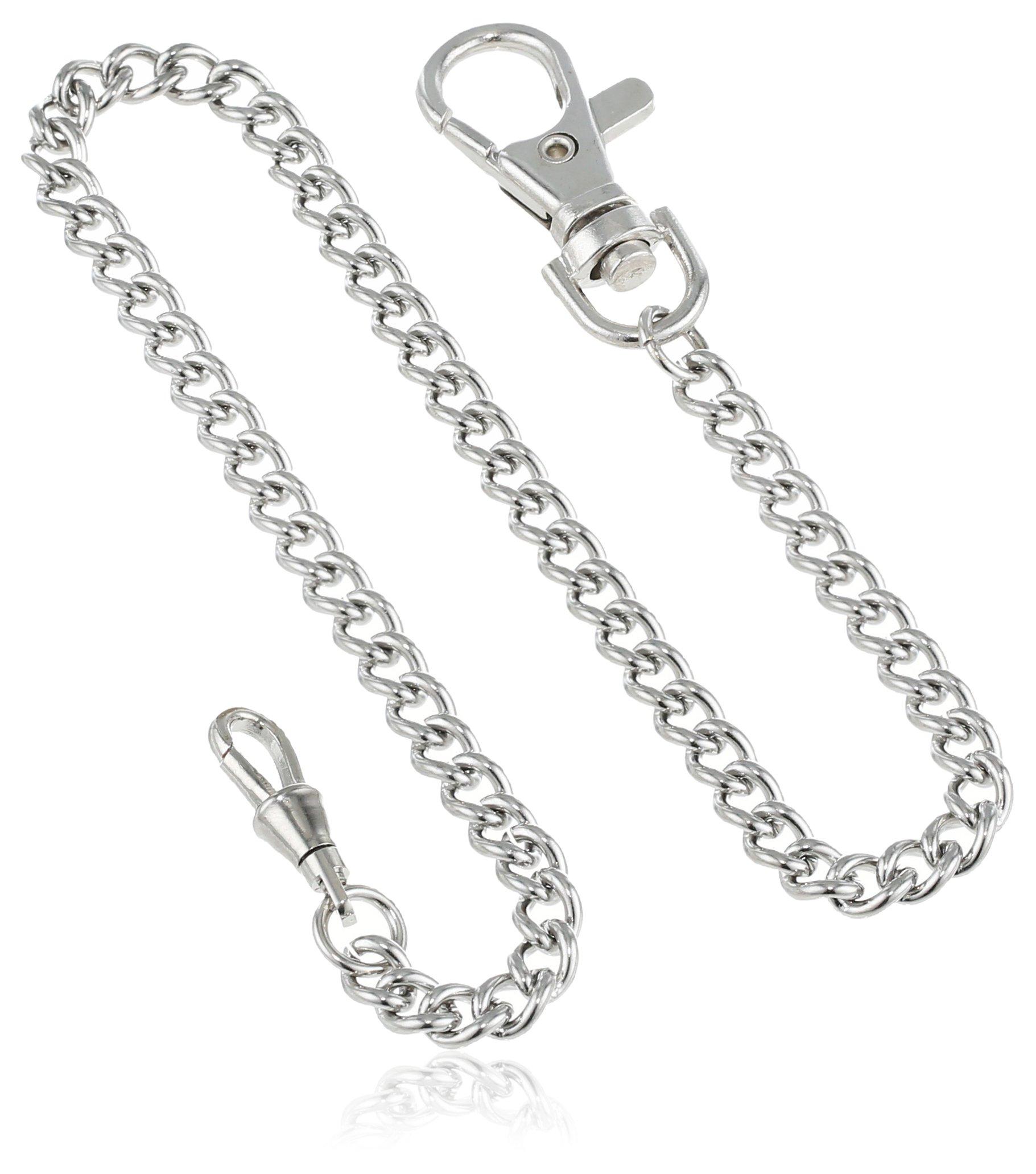Charles-Hubert, Paris 3548-W Stainless Steel Pocket Watch Chain by CHARLES-HUBERT PARIS
