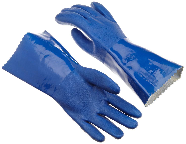 azul /guantes de goma/ tama/ño grande /Guantes de algod/ón con forro guantes/ Pack de 2/pares hogar/ /Guantes de cocina para lavar vajilla /guantes/