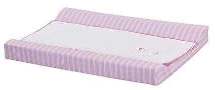 Cambiador bebe interior plastificado Bordado PARAJITO CORAZON. Color Rosa. Medida 80x53 cm. Desenfundable
