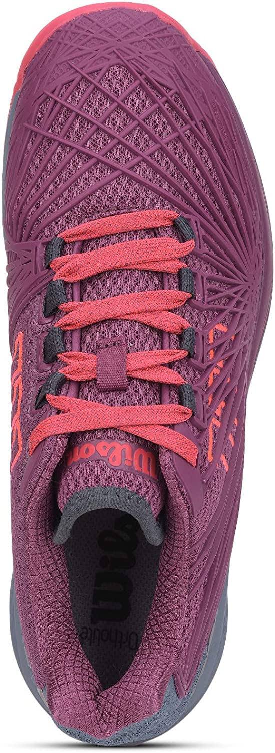 Wilson Rush Pro 2.5 Chaussures pour femme Prune/silex/rouge fluo.