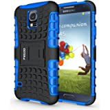 Galaxy S5 Case,Pegoo Shockprooof Impact Resistant Hybrid Heavy Duty Dual Layer Armor Hard Plastic and Soft TPU With a Kicksta
