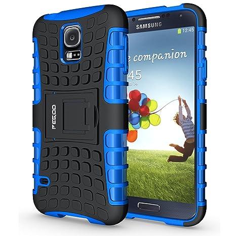 Funda Galaxy S5 ,Pegoo El Soporte Incorporado A Prueba de golpes Anti-Arañazos y Polvo Mezcla Doble Capa Armadura Proteccion Cover Case Caso Funda ...