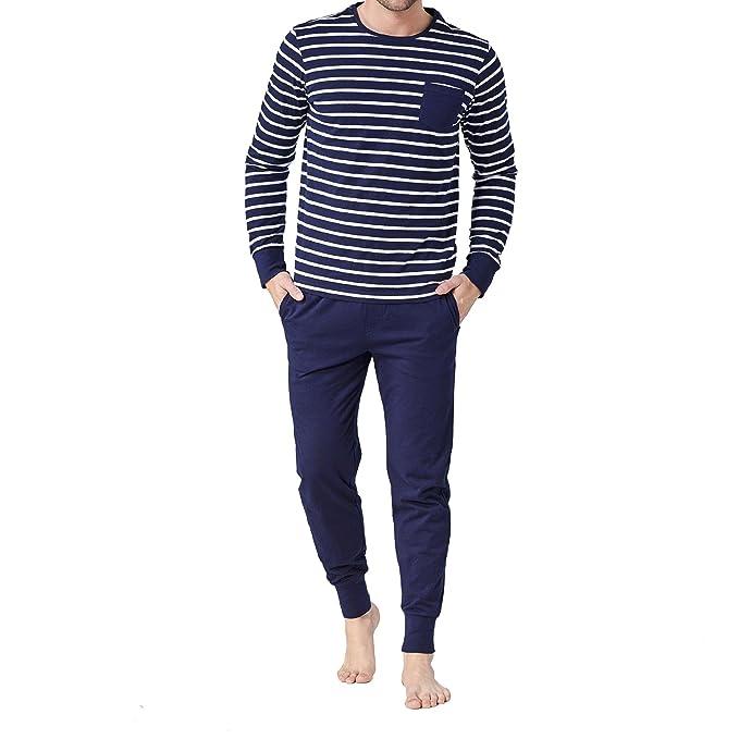 Jockey - Pijama - sin costuras - para hombre azul marino Medium