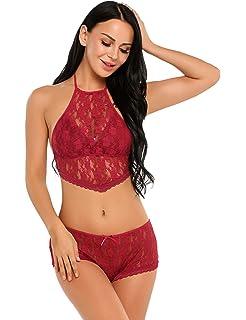 8601bf2a5d Avidlove Women Lace Lingerie Mesh Pajama Cami Shorts Set Babydoll Chemise