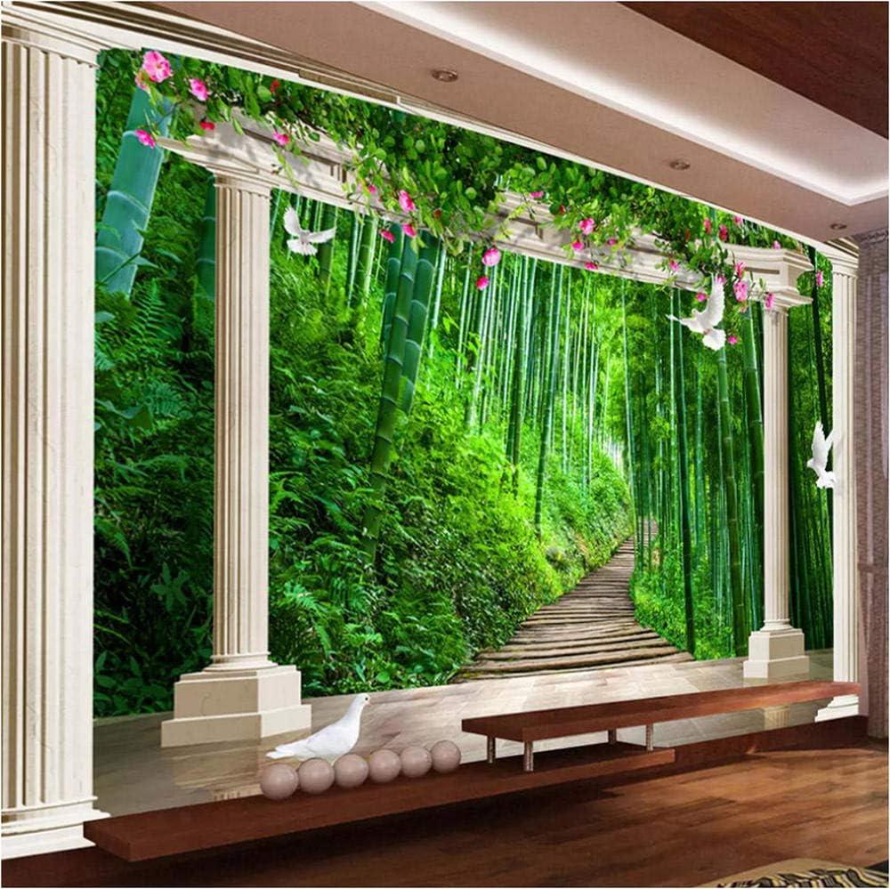 Personalizado cualquier tamaño 3D Papel pintado Pintura de pared Estilo europeo Columna romana Bosque de bambú Paisaje 3D Foto Papel de pared Salón Dormitorio: Amazon.es: Bricolaje y herramientas