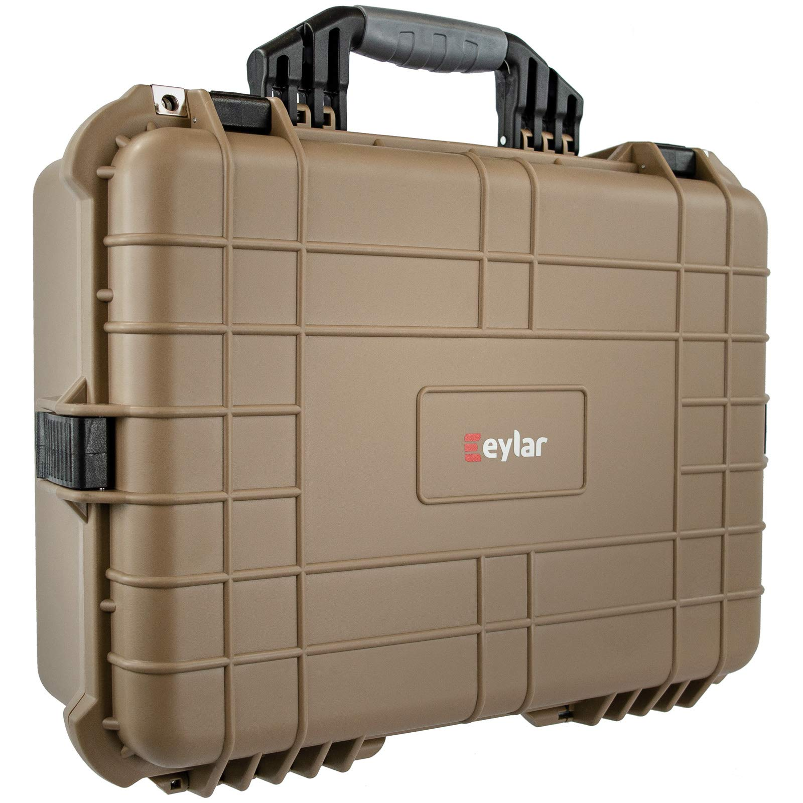 Eylar 20 Inch Large Protective Camera Hard Case Water and Shock Proof with Foam Tan
