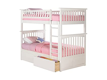Amazon Com Atlantic Furniture Columbia Bunk Bed With 2 Flat Panel