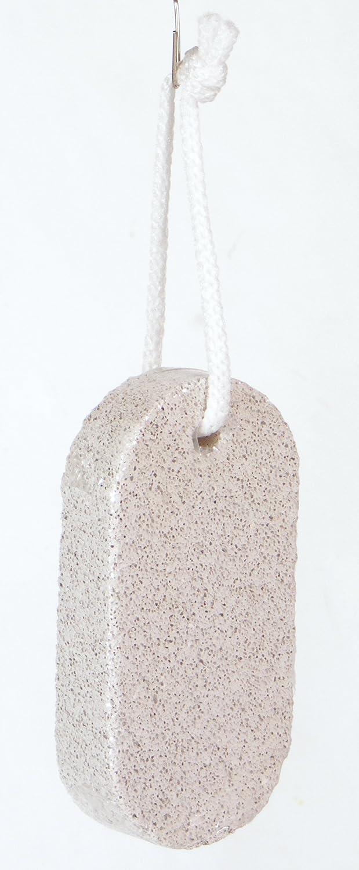 piedra pómez de cuidado de pies ovalada 10x 5x 2cm, con cordón para colgar