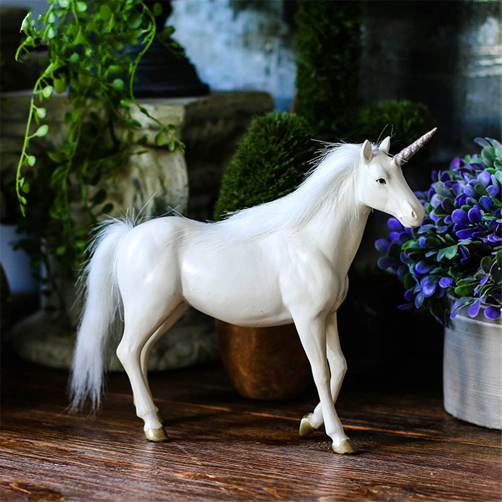 Unicorn Resin Crafts Animal Horse Home Decoration Desktop Decoration Gift Crafts (Large) by Lucky House (Image #1)