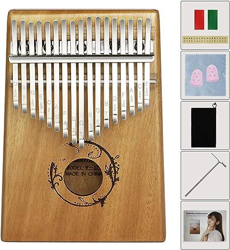 Amantes y Principiantes EXTSUD Kalimba Piano 17 Teclas Piano de Madera Port/átil Instrumento Musical Regalo para Ni/ños Adultos